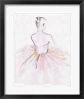 Framed Watercolor Ballerina II