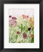 Framed Among the Watercolor Wildflowers II