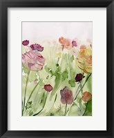 Framed Among the Watercolor Wildflowers II