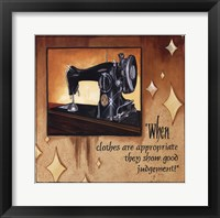 Framed Good Judgement