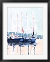 Framed Watercolor Boat Club I