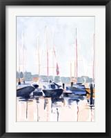 Framed Watercolor Boat Club II