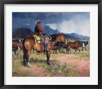 Framed Twenty Years in the Saddle