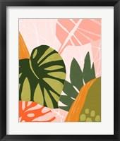 Framed Jungle Collage I
