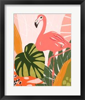 Framed Jungle Flamingo I