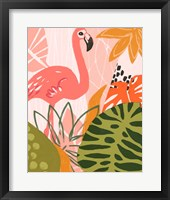 Framed Jungle Flamingo II