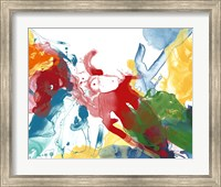 Framed Primary Abstract IV
