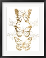 Framed Gold Butterfly Contours I