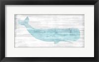 Framed Weathered Whale I