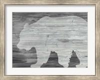 Framed Vintage Plains Animals I