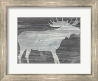 Framed Vintage Plains Animals IV