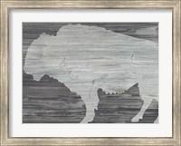 Framed Vintage Plains Animals V