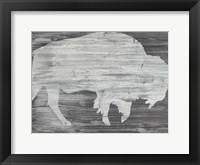 Framed Vintage Plains Animals VI