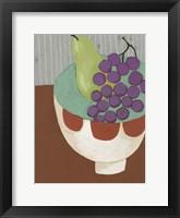 Framed Modern Fruit II