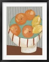 Framed Modern Fruit IV