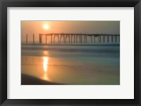 Framed Morning Pier Sunrise, Cape May New Jersey