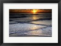 Framed Sunset Reflection On Beach, Cape May NJ