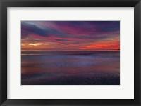 Framed Purple-Colored Sunrise On Ocean Shore, Cape May NJ