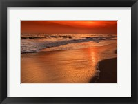 Framed Sunset Reflections Off Clouds And Ocean Shore, Cape May NJ