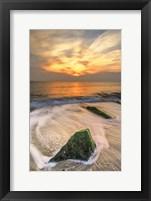 Framed Scenic Cape May Beach 4, Cape May NJ