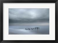 Framed Beach Pilings On Stormy Sunrise, Cape May National Seashore, NJ