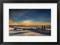 Framed Sunrise On Winter Shoreline 2, Cape May National Seashore, NJ