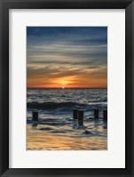 Framed Sunrise On Winter Shoreline 3, Cape May National Seashore, NJ
