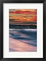 Framed Sunrise On Winter Shoreline 5, Cape May National Seashore, NJ