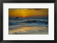 Framed Sunrise On Ocean Shore 1, Cape May National Seashore, NJ