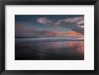 Framed Sunset On Ocean Shore 3, Cape May National Seashore, NJ
