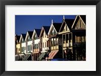 Framed Row of Beach Homes, Cape May, NJ