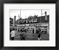Framed Coca Cola Sign - Boardwalk, Wildwood NJ (BW)