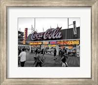 Framed Coca Cola Sign - Boardwalk, Wildwood NJ