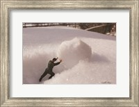 Framed Army Snowball