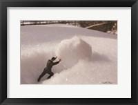 Framed Army Snowball