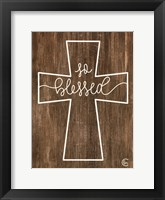 Framed Blessed Cross