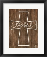 Framed Thankful Cross