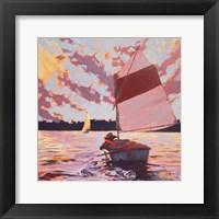 Framed Small Sailboat