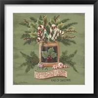 Framed Peppermint Christmas