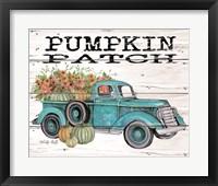 Framed Pumpkin Patch Truck