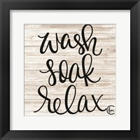 Framed Wash Soak Relax