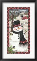 Framed Farmhouse Snowman