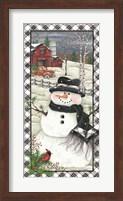 Framed Rusty Truck Snowman