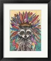 Framed Tribal Raccoon