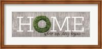 Framed Boxwood Home