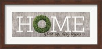 Framed Boxwood Home