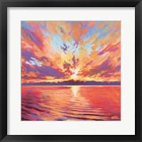 Framed Lake Sunset