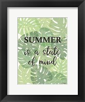 Framed Tropical Summer Quote