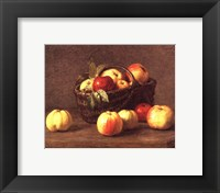 Framed Pommes Dans un Panier