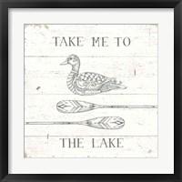 Framed Lake Sketches VII